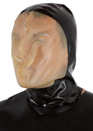 Latex vacuüm masker voor Breath Control / Play